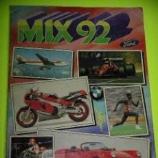 Coleccionismo Álbumes: ÁLBUM DE CROMOS MIX 92, (VERSION 2) ED. CROMOS ROS, FALTAN 13 CROMOS, AÑO 1992 ERCOM. Lote 52847467