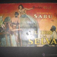 Coleccionismo Álbumes: EL LIBRO DE LA SELVA - CHOCOLATES OLLE - INCOMPLETO - VER FOTOS - (V-5238). Lote 52962065