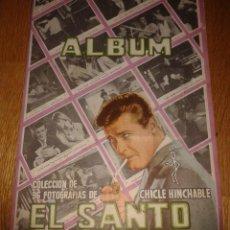 Coleccionismo Álbumes: ALBUM DE CROMOS EL SANTO CHICLE HINCHABLE .COMPLETO A FALTA DE 3 CROMOS. Lote 53080196