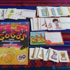 Coleccionismo Álbumes: GOGO'S GOGOS INCOMPLETO FALTAN 23 DE 60 CROMOS MÁS 56 CROMOS SUELTOS Y 38 TARJETAS. MBE.. Lote 53135438