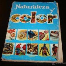 Coleccionismo Álbumes: ALBUM DE CROMOS NATURALEZA Y COLOR PORTADA DETERIORADA . Lote 53302740