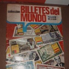 Coleccionismo Álbumes: ALBUM BILLETES DEL MUNDO FALTAN 12 CROMOS. Lote 53315470