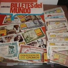 Coleccionismo Álbumes: ALBUM BILLETES DEL MUNDO MAS CROMOS. Lote 53315650