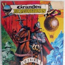 Coleccionismo Álbumes: ALBUM GRANDES EXPEDICIONES , DUNKIRAMA , CHICLES DUNKIN , INCOMPLETO, VER FOTOS , ORIGINAL. Lote 53323918