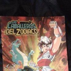 Coleccionismo Álbumes: ALBUM LOS CABALLEROS DEL ZODIACO PANINI 1986 INCOMPLETO NO CONSERVA EL POSTER. Lote 53338101