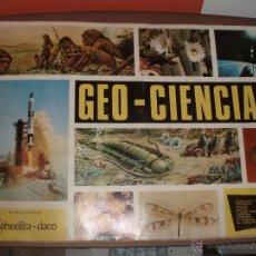 Coleccionismo Álbumes: ALBUM GEOCIENCIAS GEO -CIENCIAS CASI COMPLETO FALTA SOLO 1 CROMO. Lote 53392186