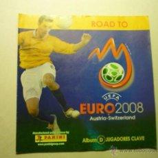 Coleccionismo Álbumes: ALBUM FUTBOL INCOMPLETO DE 16 SOLO HAY 13 CROMOS-EURO 2008-PANINI-ALBUM D. Lote 53392209