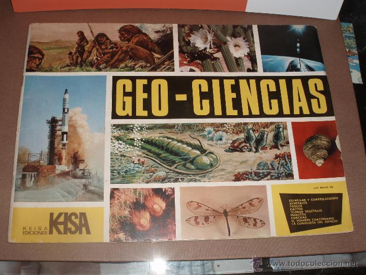 ALBUM GEOCIENCIAS GEO CIENCIAS CASI COMPLETO FALTAN SOLO 5 CROMOS MAS VALE PROMOCIONAL (Coleccionismo - Cromos y Álbumes - Álbumes Incompletos)