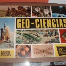 Coleccionismo Álbumes: ALBUM GEOCIENCIAS GEO CIENCIAS CASI COMPLETO FALTAN SOLO 5 CROMOS MAS VALE PROMOCIONAL. Lote 53392238
