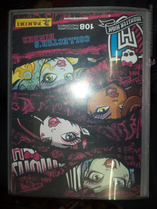 ALBUM MONSTER HIGH PHOTOCARDS PHOTOPRINTS.PANINI 2013. (Coleccionismo - Cromos y Álbumes - Álbumes Incompletos)