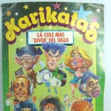 Collectable Incomplete Albums - ALBUM CROMO - KARIKATAS - EDCIONES ESTE 1990 - CON 104 CROMOS DE 131 - LA COLE MAS DIVER DEL SIGLO - 53519067