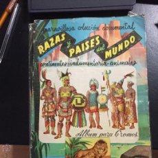 Coleccionismo Álbumes: RAZAS Y PAISES DEL MUNDO ALBUM CON 100 CROMOS BUEN ESTADO. Lote 53550020