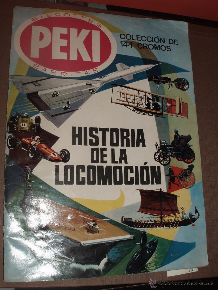 ALBUM HISTORIA DE LA LOCOMOCION PEKI CASI COMPLETO FALTA SOLO 1 CROMO (Coleccionismo - Cromos y Álbumes - Álbumes Incompletos)