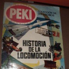 Coleccionismo Álbumes: ALBUM HISTORIA DE LA LOCOMOCION PEKI CASI COMPLETO FALTA SOLO 1 CROMO. Lote 53580914