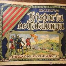 Coleccionismo Álbumes: HISTORIA DE CATALUNYA XOCOLATES JUNCOSA. Lote 53622716