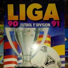 Coleccionismo Álbumes: ALBUM CROMOS LIGA 90 91 INCOMPLETO. Lote 53711546