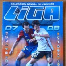 Coleccionismo Álbumes: ÁLBUM LIGA 2007-2008, DE ESTE, CON 130 CROMOS, DE LOS CUALES 4 ÚLTIMOS FICHAJES. Lote 53816684