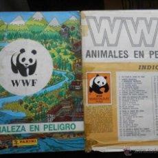 Coleccionismo Álbumes: LOTE DE DOS ÁLBUMS DE WWF DE CROMOS AL 98% COMPLETO Y 40% COMPLETO. Lote 53816715