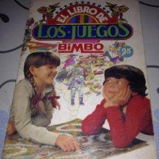 Coleccionismo Álbumes: ALBUM EL LIBRO DE LOS JUEGOS DE BIMBO. SIN CROMOS VACIO PLANCHA . Lote 54199457