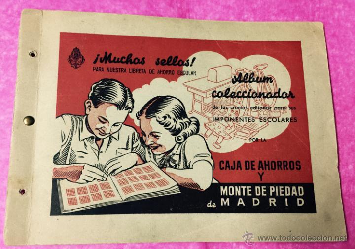 RARO ÁLBUM LIBRETA DE AHORRO INFANTIL - CAJA DE AHORROS Y MONTE DE PIEDAD DE MADRID - AÑO 1950 (Coleccionismo - Cromos y Álbumes - Álbumes Incompletos)