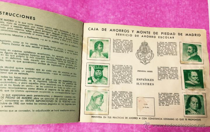 Coleccionismo Álbumes: Raro álbum libreta de ahorro infantil - Caja de Ahorros y monte de piedad de Madrid - Año 1950 - Foto 2 - 54430715