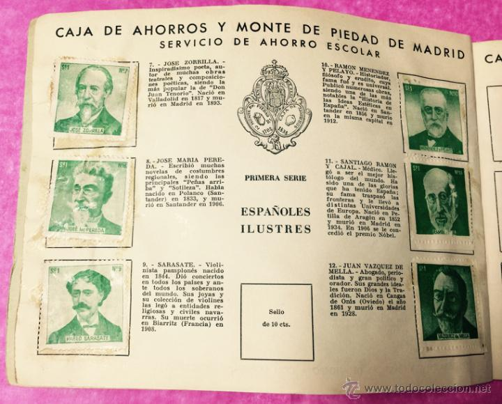 Coleccionismo Álbumes: Raro álbum libreta de ahorro infantil - Caja de Ahorros y monte de piedad de Madrid - Año 1950 - Foto 3 - 54430715