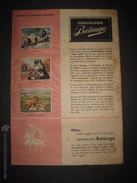 Coleccionismo Álbumes: A TRAVES DEL AFRICA - CHOCOLATES BATANGA ALBUM Nº 1 - ALBUM VACIO - VER FOTOS - ( V- 4513) - Foto 8 - 54633558