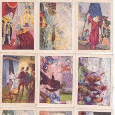 Coleccionismo Álbumes: HISTORIA DE ESPAÑA CHOCOLATES AMATLLER BARCELONA (7X9,5) 13 CROMOS. Lote 54673529