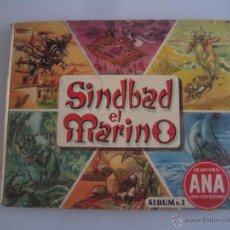 Coleccionismo Álbumes: SINDBAD EL MARINO ALBUM DE CROMOS INCOMPLETO FALTAN 13 CROMOS. Lote 58012582