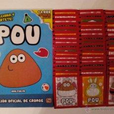 Coleccionismo Álbumes: ÁLBUM Y 50 SOBRES POU DE GIROMAX. NO BLISTER. 250 CROMOS. Lote 133851975