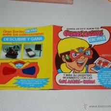 Coleccionismo Álbumes: ALBUM CROPAN - CROMOS MAGICOS CROPAN CON SUS GAFAS MAGICAS , ALBUM VACIO, PLANCHA. Lote 54829056