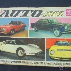 Coleccionismo Álbumes: ALBUM DE CROMOS - AUTO 1967 - EDITORIAL BRUGUERA - . Lote 54989356