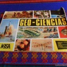 Coleccionismo Álbumes: GEO CIENCIAS GEOCIENCIAS GEO-CIENCIAS INCOMPLETO FALTAN 115 CROMOS DE 343. KEISA 1971. . Lote 55179272