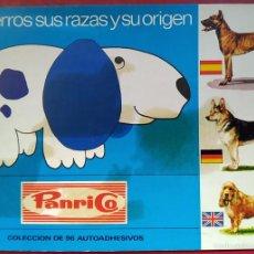 Coleccionismo Álbumes: LOS PERROS: SUS RAZAS Y SU ORIGEN . PANRICO 1972 . CONTIENE 52 CROMOS (FALTAN 44). Lote 55687108