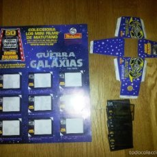 Coleccionismo Álbumes: ALBUM STAR WARS GUERRA DE LA GALAXIAS MATUTANO VACIO + VISOR + 28 CROMOS / FILMINAS. Lote 55701084
