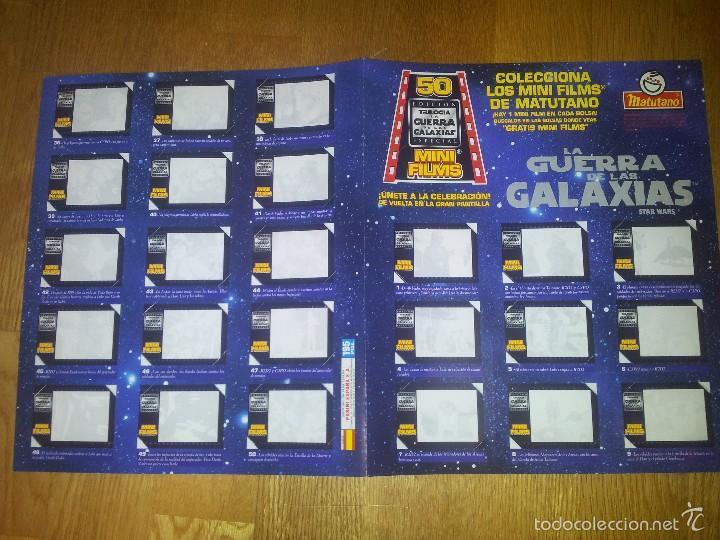 Coleccionismo Álbumes: ALBUM STAR WARS GUERRA DE LA GALAXIAS MATUTANO VACIO + VISOR + 28 CROMOS / FILMINAS - Foto 2 - 55701084