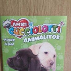 Coleccionismo Álbumes: ÁLBUM VACÍO. AMICI. CUCCIOLOTTI - ANIMALITOS / PANINI ( 6 CROMOS ). Lote 55801690