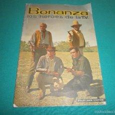 Coleccionismo Álbumes: ALBUM BONANZA DE FHER TIENE 72 CROMOS DE 186 . Lote 55824680