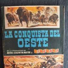 Coleccionismo Álbumes: ALBUM LA CONQUISTA DEL OESTE CON 178 CROMOS DE LOS 200 QUE FORMAN EL ALBUM, BRUGUERA. Lote 55919620