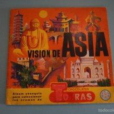 Coleccionismo Álbumes: ALBUM INCOMPLETO DE VISIÓN DE ASIA AÑO 1961 DE CHOCOLATES TORRAS. Lote 56039962