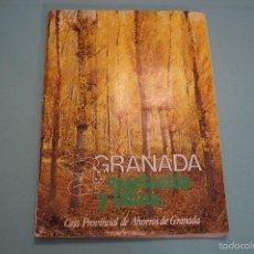Coleccionismo Álbumes: ALBUM INCOMPLETO DE GRANADA VEGETACIÓN Y FAUNA AÑO 1982 DE CAJA PROVINCIAL DE GRANADA. Lote 56076298