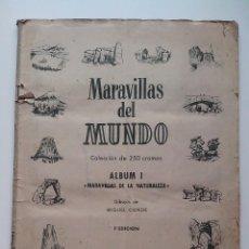 Coleccionismo Álbumes: ALBUM MARAVILLAS DEL MUNDO I BRUGUERA 1956 FALTAN 6. Lote 56107982