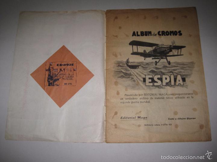 Coleccionismo Álbumes: ALBUM ESPIA -ALBUM INCOMPLETO -EDITORIAL MAGA - (V-5255) - Foto 2 - 56278047