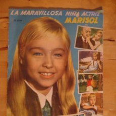 Coleccionismo Álbumes: ÁLBUM CROMOS LA MARAVILLOSA NIÑA ACTRIZ MARISOL UN RAYO DE LUZ COLECCIÓN NO COMPLETA FHER 1960. Lote 56295559