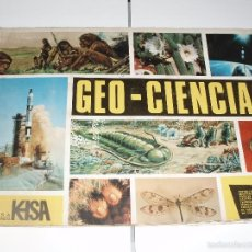 Coleccionismo Álbumes: ALBUM GEO-CIENCIAS FALTAN SOLO 17 CROMOS. Lote 56473071