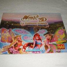 Coleccionismo Álbumes: ÁLBUM DE CROMOS NUEVO Y VACÍO: WINX CLUB 3D LA AVENTURA MÁGICA. Lote 56490537
