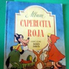 Coleccionismo Álbumes: ANTIGUO ALBUM DE CROMOS *CAPERUCITA ROJA* DE EDITORIAL BRUGUERA - AÑO 1944. Lote 58277252