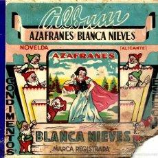 Coleccionismo Álbumes: AZAFRANES BLANCA NIEVES ALBUM NOVELDA INCOMPLETO. Lote 56546074