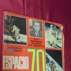 Coleccionismo Álbumes: ALBUM DE CROMOS INCOMPLETO. ESPACIO 70. LA CONQUISTA DE LA LUNA. ESTE. CON 154 CROMOS.. Lote 56668442