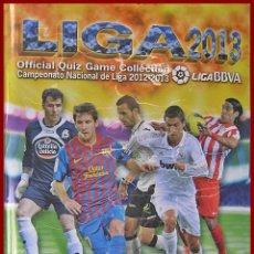 Coleccionismo Álbumes: ALBUM MUNDI CROMOS QUIZ GAME....LIGA 2012/13....+ 440 CROMOS. Lote 56884375